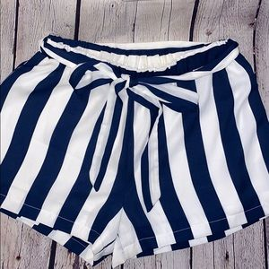 Francesca's Striped Tie Short
